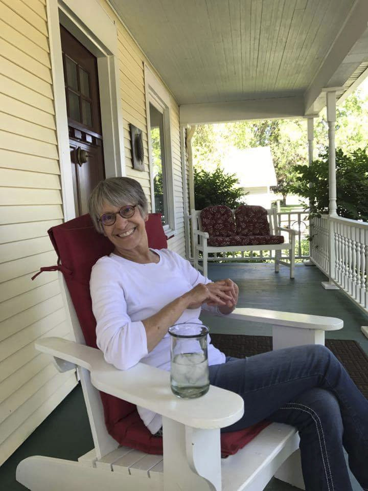 susan on porch